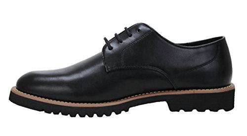 Scarpe uomo class nero invernali calzature shoes casual eleganti (42)