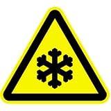 Aufkleber Warnung vor Kälte Folie 10cm sl gemäß ASR A