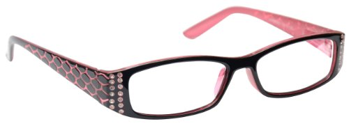 UV Reader Lesebrille Designer Stil +2.00 Dioptrien Rosa Frauen Damen UVR001 mit Etui
