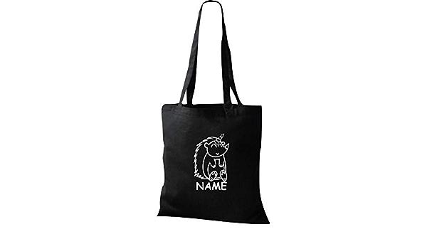 Einhorn Stoffbeutel lustige Tiere mit Wunschnamen Einhornigel Igel