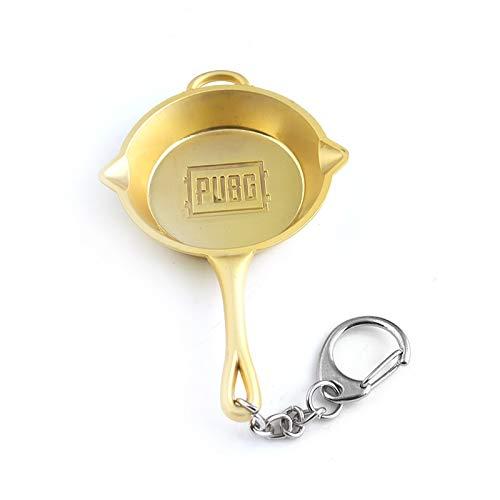 TUDUDU Neuester Pubg-Champion Pot Pan Keychain Playerunknown Es Schlachtfelder Pendant Key Chain Car Bag Keyring Für Frauen Männer Schmuck