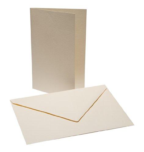 Faltkarten Set B6 mit Umschlag - creme - Faltkarte