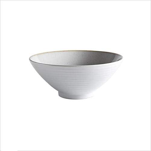 Ciotola di ceramica Creativo ciotola di ceramica ristorante posate stoviglie porcellana in casa porcellana stoviglie riso glutinoso dessert insalata di frutta ciotola 8 pollici (Coloreee   Bianca) d99a69