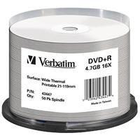 Verbatim dvd+r 4.7gb print. - confezione da 50