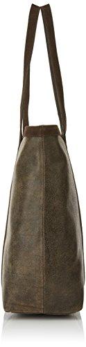 Timberland Tb0m5495, Borsa Tote Donna, 15.5x36x38.5 cm (W x H x L) Marrone (Chocolate Brown)