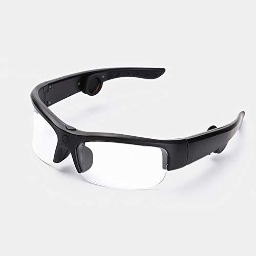 ZzWEI Knochenleitungs-Sportbrille, Drahtlose Bluetooth-Verbindung Zum Automatischen Schutz Der Augen Beantworten Sie Die Umweltbedingte Hörgerätesonnenbrille,transparentfilm 665 Wireless Bluetooth