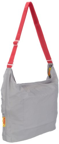 PUMA Shultertasche Fitness, gray violet-rouge red-buttercup, 36 x 37 x 12cm, 14 liters, 69900 04 gray violet-rouge red-buttercup