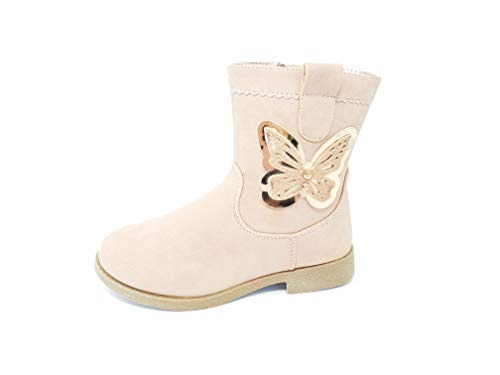 Girls Ankle Boots with Sparkly Butterfly