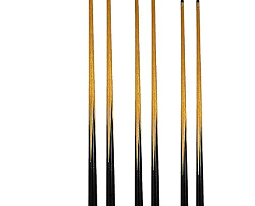 6 queues de billard avec embout vissé de 11 mm - 2 de chaque 120, 130 et 140 cm + 4 morceaux de craie triangle Vert