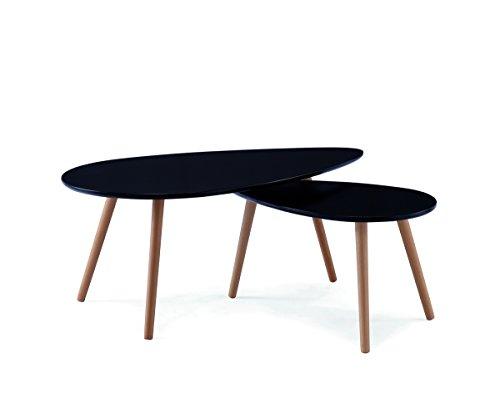 Mobilier Deco Table Basse gigognes scandinave Karen Noir