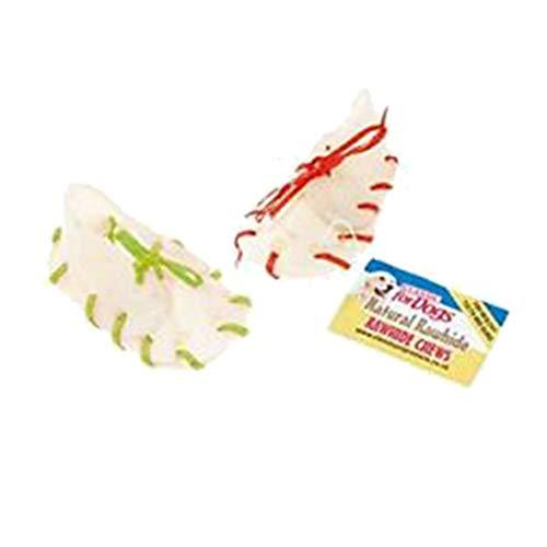 Caldex klassische Rohleder-Kauschuhe mit Senkeln, 50er-Pack (Einheitsgröße) (Mehrfarbig)