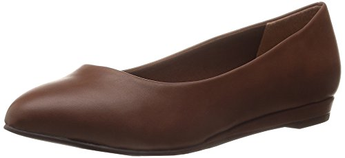 Soft Style by Hush Puppies Womens Darlene Wedge Pump, Mid Brown Leather, 10 M US Mid Brown Leather