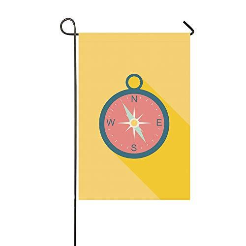 JOCHUAN Startseite dekorative Outdoor doppelseitige Kompass Flache Symbol Lange Schatten Garten Flagge, Haus Hof Flagge, Garten Hof Dekorationen, saisonale Willkommen Outdoor Flagge -