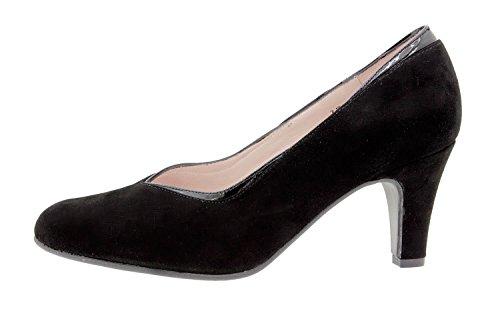 Chaussure femme confort en cuir Piesanto 9206 escarpin confortables amples Noir