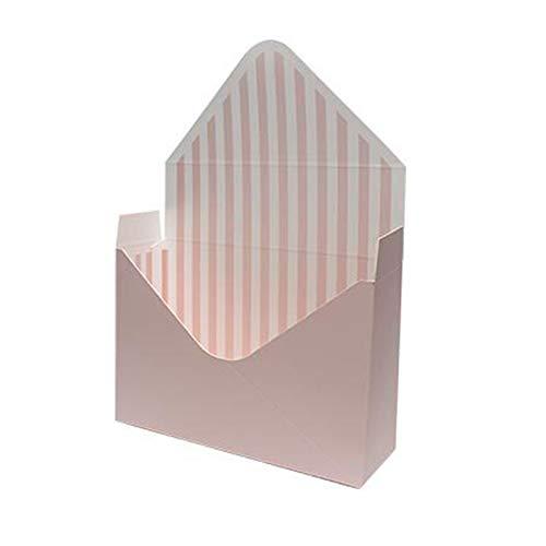 KEKEDA Umschlag-Blumen-Papierhalter-Kasten, handgemachte Retro Kraftpapier-Hochzeitskarte mit Umschlag-Blumen-Kasten