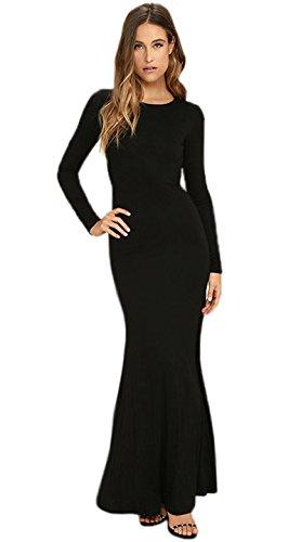 Schwarz (Backless Evening Dress) Abendkleid mit Rückenausschnitt. Gr.38