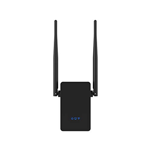HEWE EIN WLAN-WiFi-Router, Repeater 300M 10dBi Antenne Wi-Fi-Signal-Repeater 2.4 & 5,8 GHz Antenne Long Range Signal amplifie (Schwarz) -