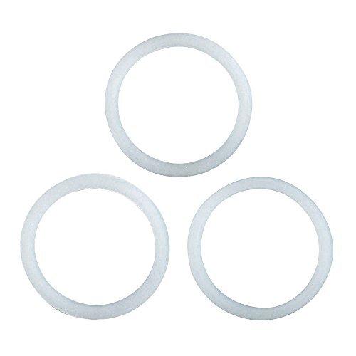 Espresso-maker-ersatz-dichtungen (Primula Ersatz Silikon Dichtung für Edelstahl 6Cup Herd Espresso Maker, Set von 3)