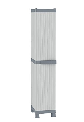 Terry base 2350 uw armadio alto a colonna in plastica, grigio, 35 x 43.8 x 181.8 cm