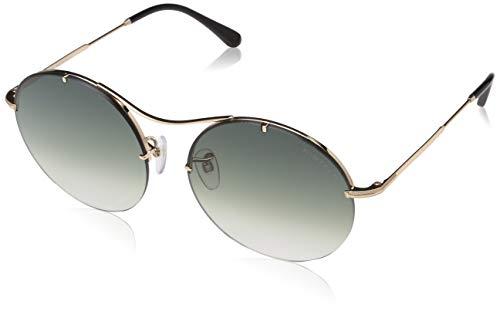 Tom Ford Unisex-Erwachsene FT0565 28B 58 Sonnenbrille, Gold (ORO Rosa Lucido/Fumo Grad)
