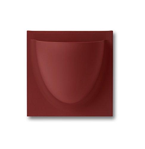 vertiplants Mini pared olla Maceta Almacenamiento Plástico) Rojo Rojo Ruby Red
