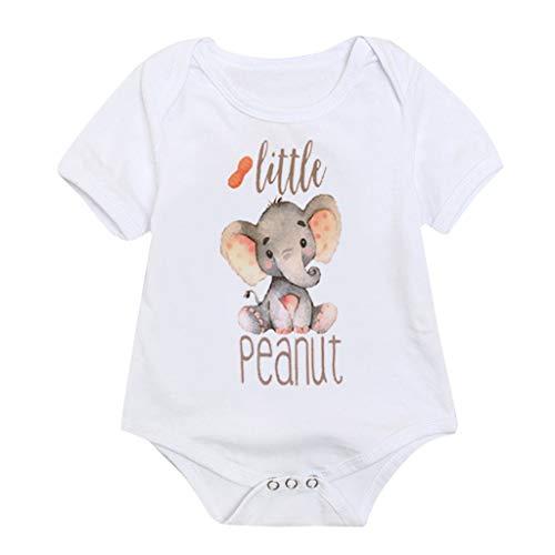 Knowin Sommer Kurzärmeliger Baby-Elefanten-Jumpsuit-Overall für Kinder Tops Bodysuit Strampler Sunsuit Kleidung Baby Geschenk Fans Baby Body Kurzarm-Body