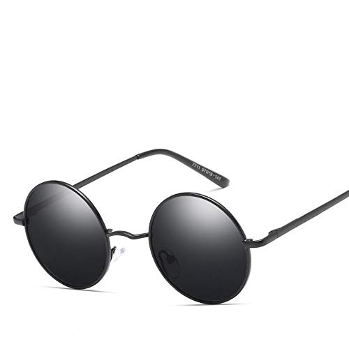 ROirEMJ Frauen Polarisierte Sonnenbrillen, Weiblichen Uv-Schutz 400 Brillen Vintage Mode Runden Rahmen Sonnenbrille Fahren Brillen Für Damen Und Herren Trend