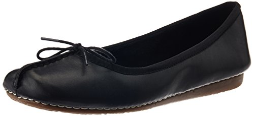Clarks Freckle Ice, Ballerines femme Noir (Black Leather)