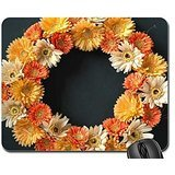 gerber-daisy-wreath-mouse-pad-mousepad-flowers-mouse-pad