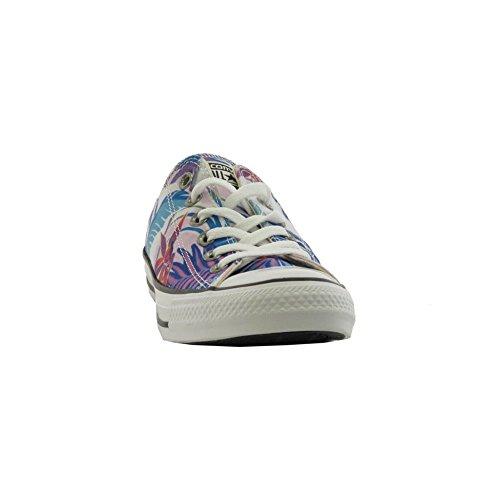 Converse Ctas Ox, Sneaker a Collo Basso Donna Multicolore (Fresh Cyan/Magenta Glow/White)