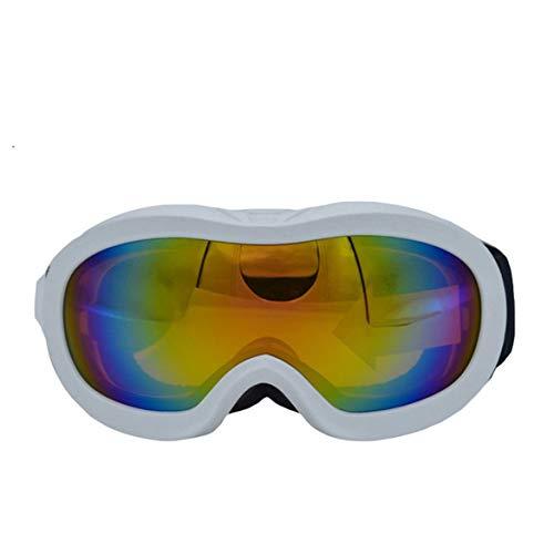 JohnJohnsen Verschiedene Art Ski Brille Anti Nebel und Doppel-Spiegel-Gläser für Kinder (weiß)