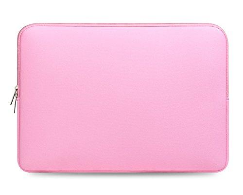 17 Zoll Basics Schutzhülle Handtasche Schulter Tasche Notebooktasche Laptop Sleeve Laptop Hülle für Tablets Pink