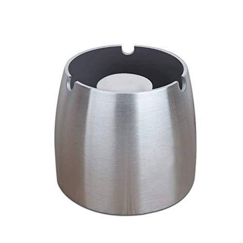Windascher mit Klappdeckel Windaschenbecher 11,8 cm Durchmesser Land-Haus-Shop/® Edelstahl Aschenbecher mit Deckel