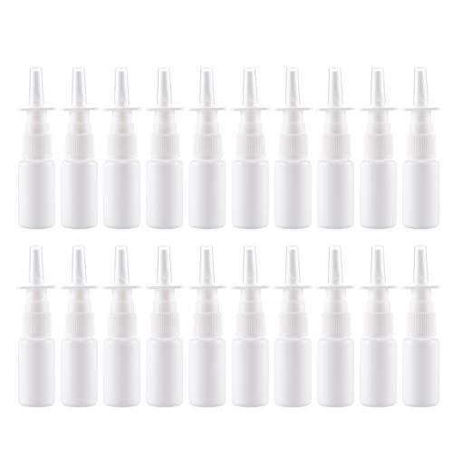 SUPVOX 20 Stücke Nasenzerstäuber Nachfüllbare Nasenspray Flaschen Zerstäuber Pumpzerstäuber Feine Nebel Leere Sprühflasche aus Kunststoff