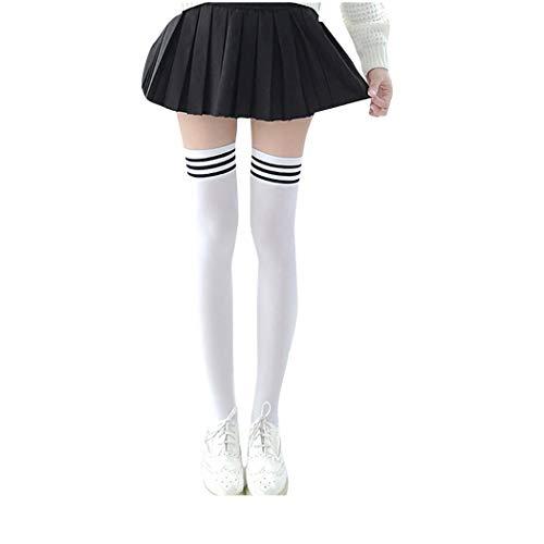 Plus Sexy Größe Weihnachten Kostüm - Goosuny Mädchen Kniesocken Damenstrümpfe Kniestrümpfe Overknee Überknie Strümpfe Knie-Lange Socken Mode Retro Schüler Schüler Schöne Sportsocken Für Kurzer Rock 1 Paare