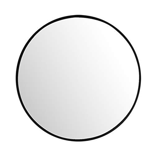 Runder Wand- Spiegel-Schwarz-Metallrahmen Eisen-Kunst-Badezimmer-Verfassungs-Spiegel gebohrten Löcher/Drill-Free-Loch mit Komplett-Set (40cm / 15.7Inch ~ 80cm / 31.4Inch) -