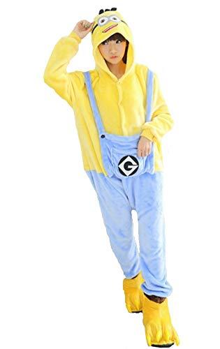 hot unisex costume carnevale Halloween Pigiama animali kigurumi cosplay Zoo onesies tuta-M/160-Minions