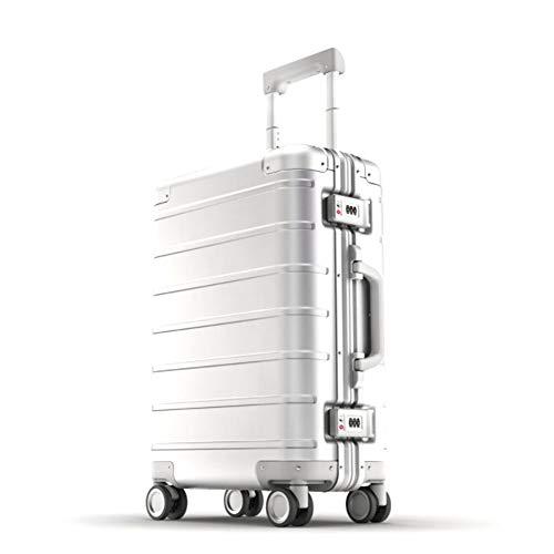 Hu-bag Retro Gepäck, Mode Unisex 20 In Hartschalen-Trolley Kabine Case Leichte Universal-Rad-große Kapazitäts-Koffer für die Reise/Geschäft/Freizeit