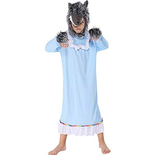 Kostüm Tanz Märchen - GUAN Kinder Bühnenauftritt Junge Wolf Großmutter Kostüm Märchen Cosplay Kleidung