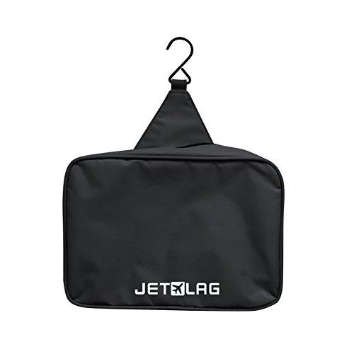 Trousse de toilette voyage à suspendre Noir pour homme ou femme idéal pour avion Jet Lag Sac rangement pratique pour cosmétiques, maquillages...