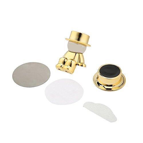 Preisvergleich Produktbild Mini drehbar Magnet Halter Gentleman Villain Hat Magnet Stent Navigation Fahrzeug Auto-Styling Handy-Halter Farbe: golden
