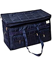 HomeStrap Parachute Jumbo Travel Duffle Bag with 2 Compartments & 6 Pockets- Blue