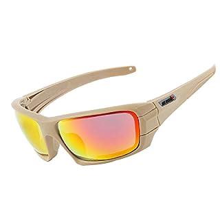Aeici Sportbrille TR90 Schutz Brille Männer Radbrille Winddicht Khaki
