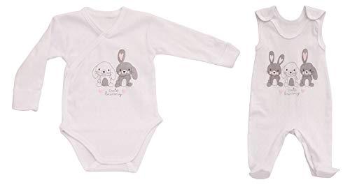 43 Gr. 56, Erst-Ausstattung Hase-n Motiv Strampler Säugling-e Babies Mädchen Junge-n ()