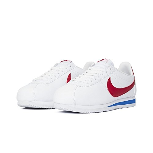 Nike Herren Classic Cortez Leather Laufschuhe, Weiß, 44 EU white-varsity red-varsity royal (749571-154)