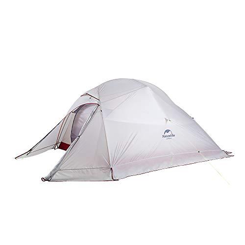 Naturehike Neu Cloud-up 3 Upgrade Ultraleichte Zelte 3 Personen Zelt 3-4 Saison für Camping Wandern (20D Grau mit Rock Upgrade)