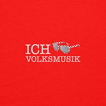 TEXLAB - Ich rocke Volksmusik - Herren Langarm T-Shirt Rot