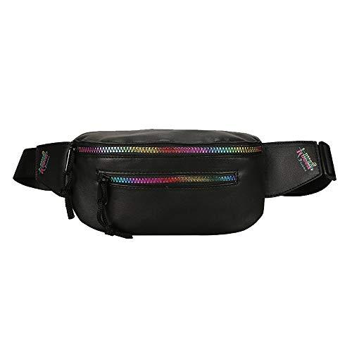 Dorical Unisex Messenger Bags/Outdoor Travel Wasserdicht Hüfttasche Schultergurt Brusttasche/Mode ReißVerschluss Umhängetasche Brusttasch/Schultertasche Valentinstag Clearance (Schwarz)