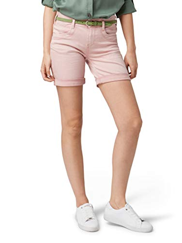 TOM TAILOR Damen Alexa Bermuda, Rosa (Soft Pink 15616), 28 -