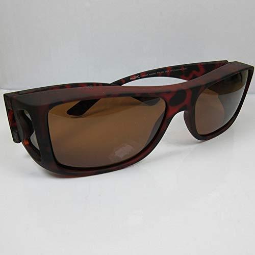Fitsch Online UG REVEX Polarisierte Überbrille havanna Sonnenbrille für Brillenträger CAT3 unisex